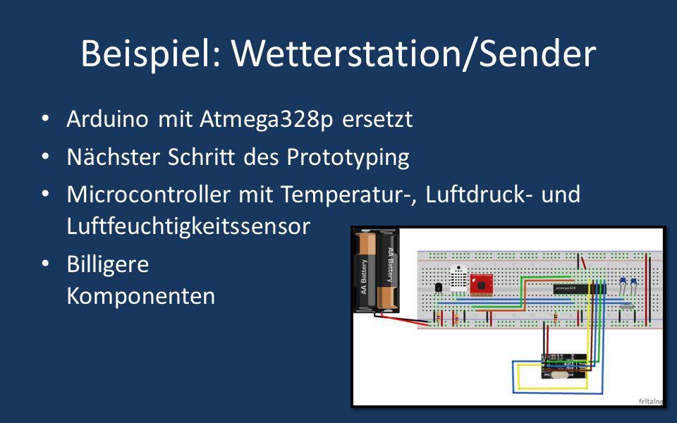 Beispiel: Wetterstation/Sender