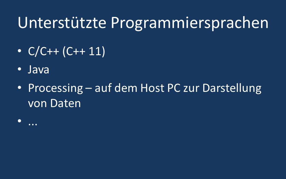 Unterstützte Programmiersprachen