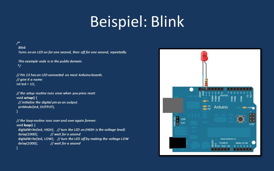 Beispiel: Blink /* Blink