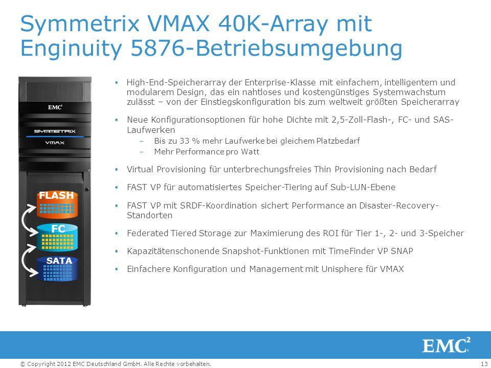 Symmetrix VMAX 40K-Array mit Enginuity 5876-Betriebsumgebung