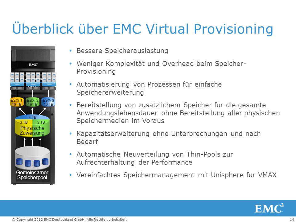 Überblick über EMC Virtual Provisioning