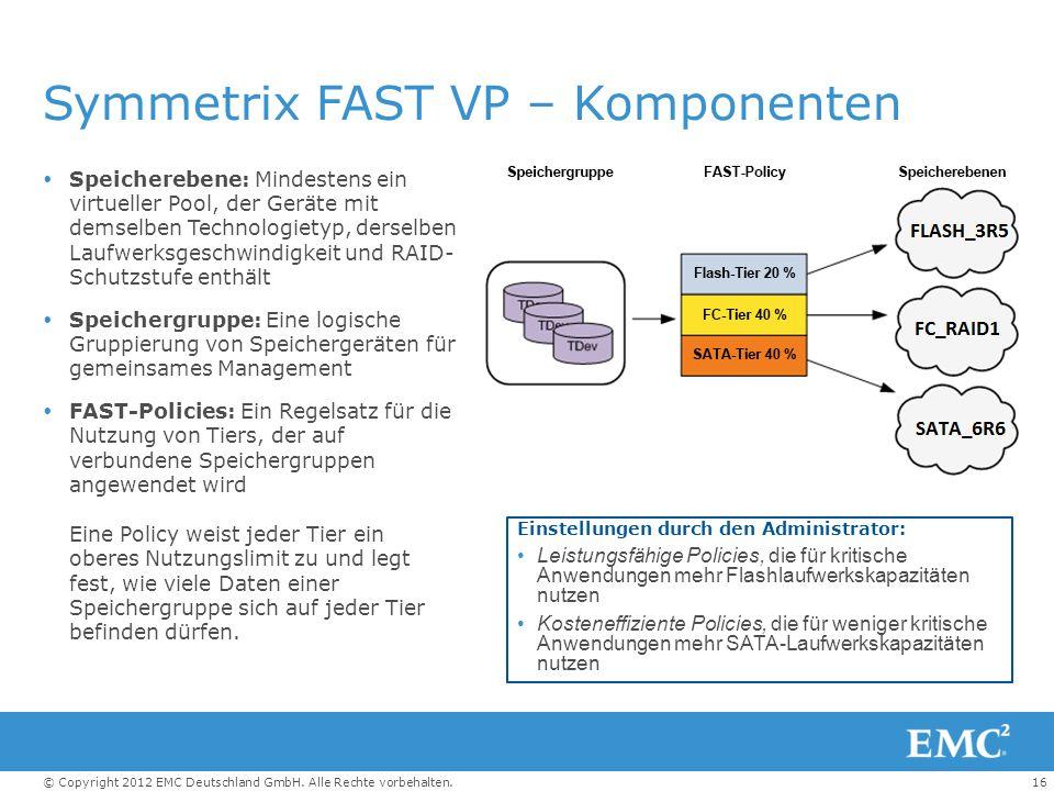 Symmetrix FAST VP – Komponenten