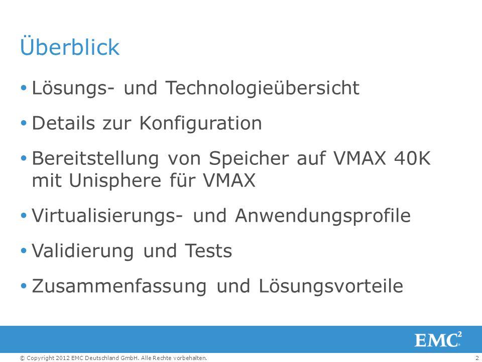 Überblick Lösungs- und Technologieübersicht Details zur Konfiguration