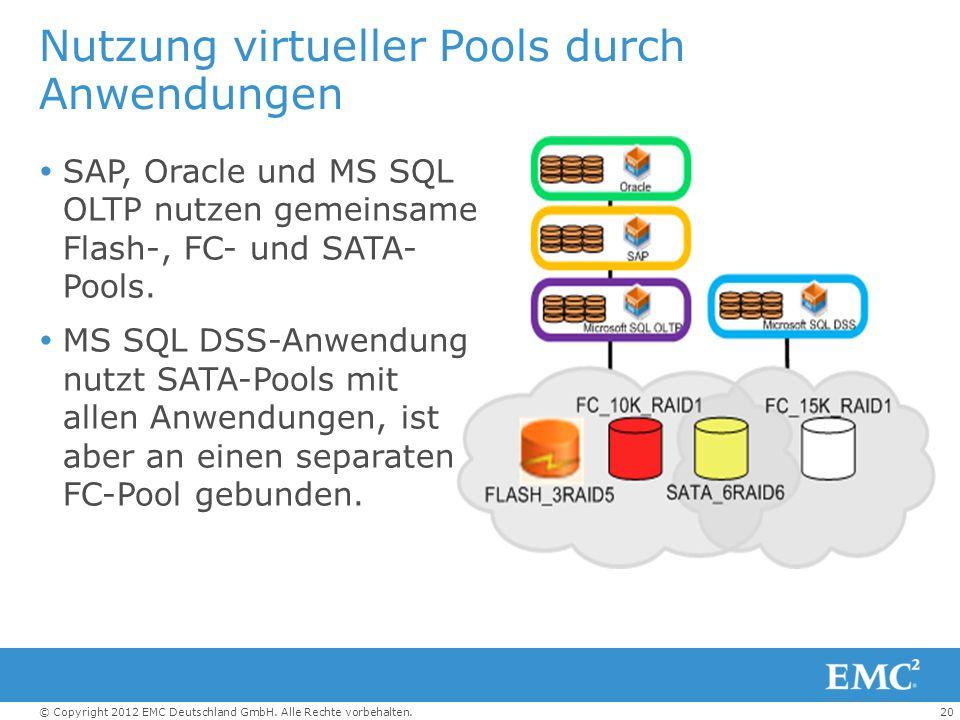 Nutzung virtueller Pools durch Anwendungen