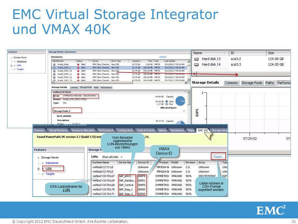 EMC Virtual Storage Integrator und VMAX 40K