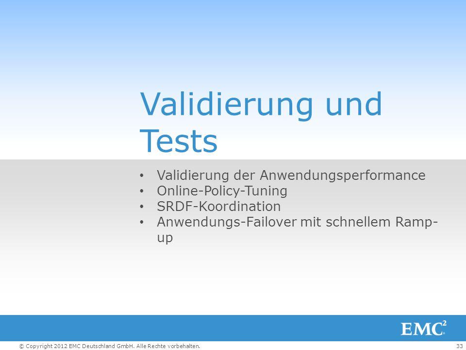 Validierung und Tests Validierung der Anwendungsperformance