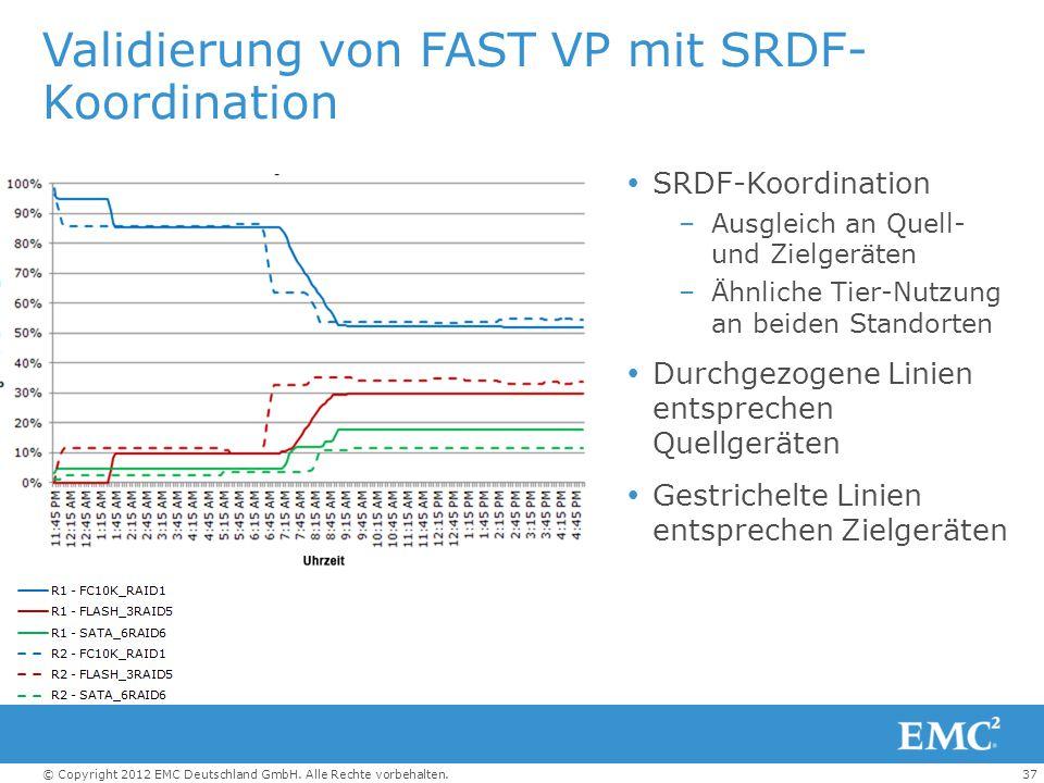 Validierung von FAST VP mit SRDF-Koordination