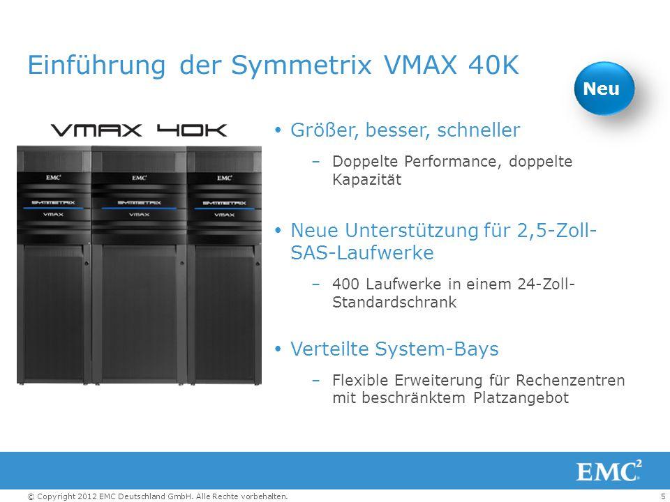 Einführung der Symmetrix VMAX 40K