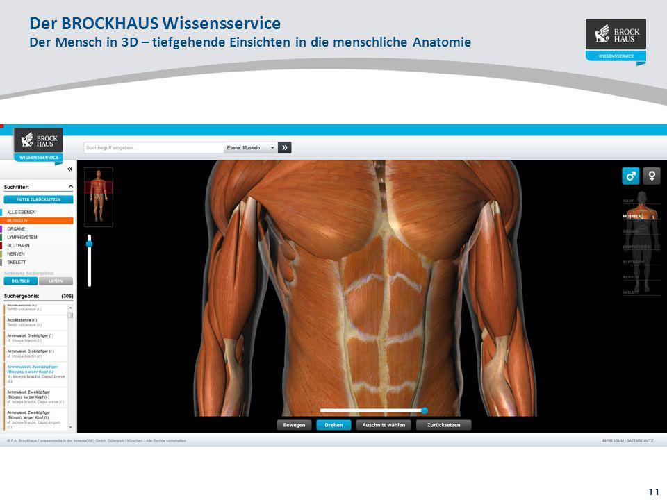 Der BROCKHAUS Wissensservice Der Mensch in 3D – tiefgehende Einsichten in die menschliche Anatomie