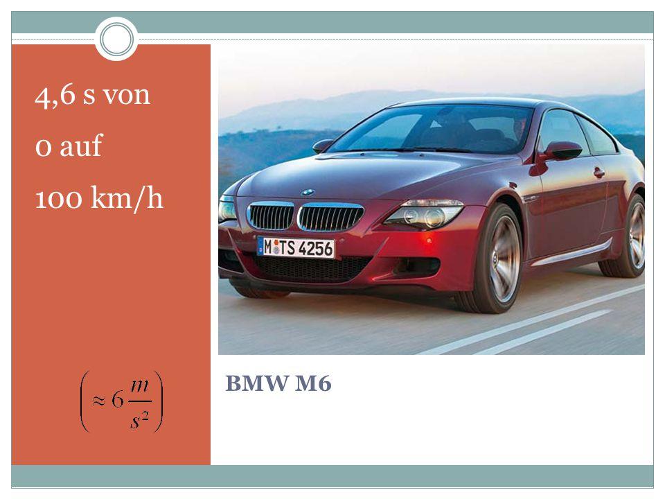 4,6 s von 0 auf 100 km/h BMW M6