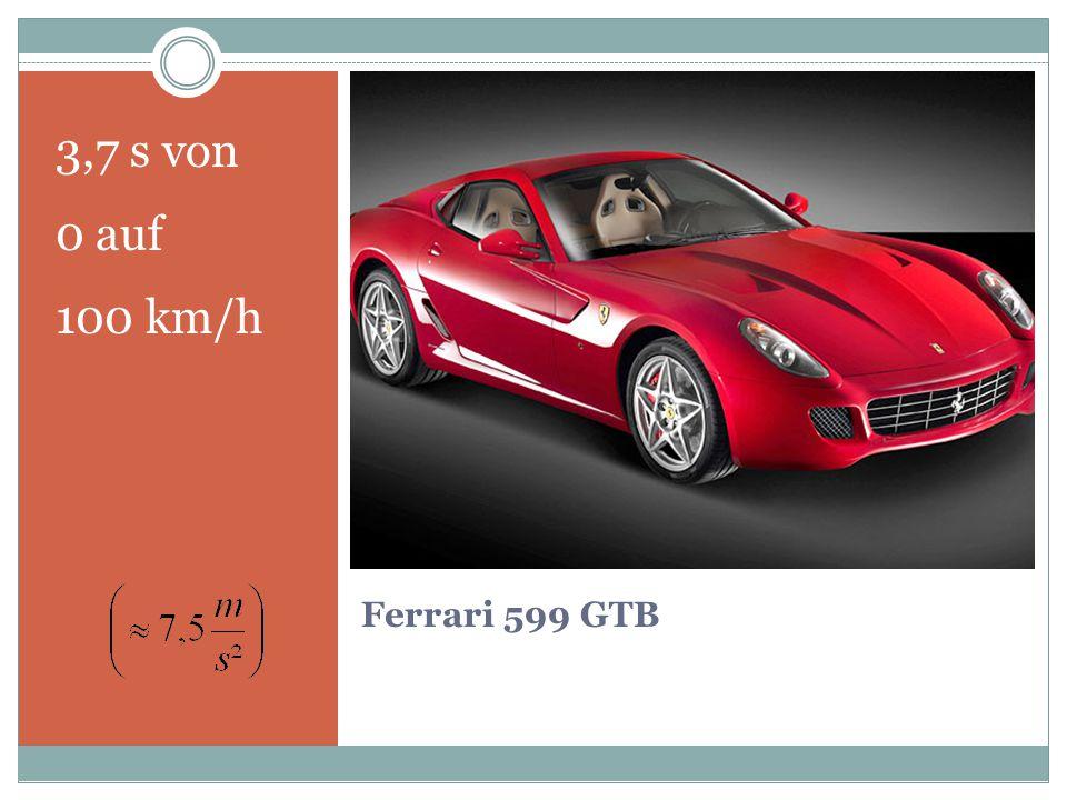 3,7 s von 0 auf 100 km/h Ferrari 599 GTB