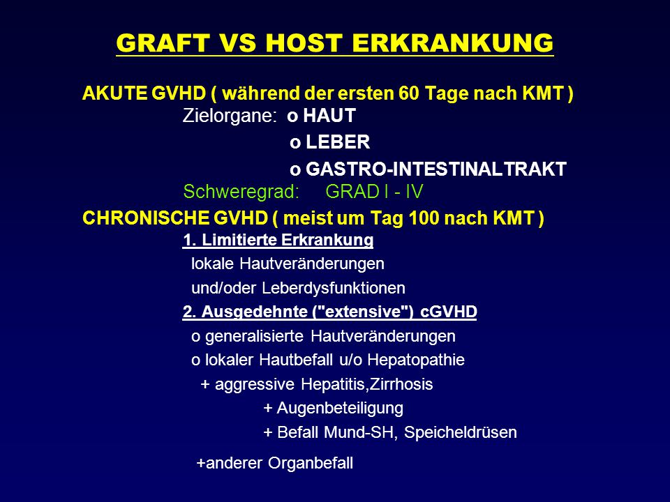 GRAFT VS HOST ERKRANKUNG