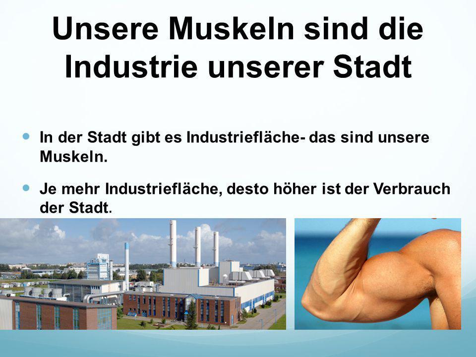 Unsere Muskeln sind die Industrie unserer Stadt