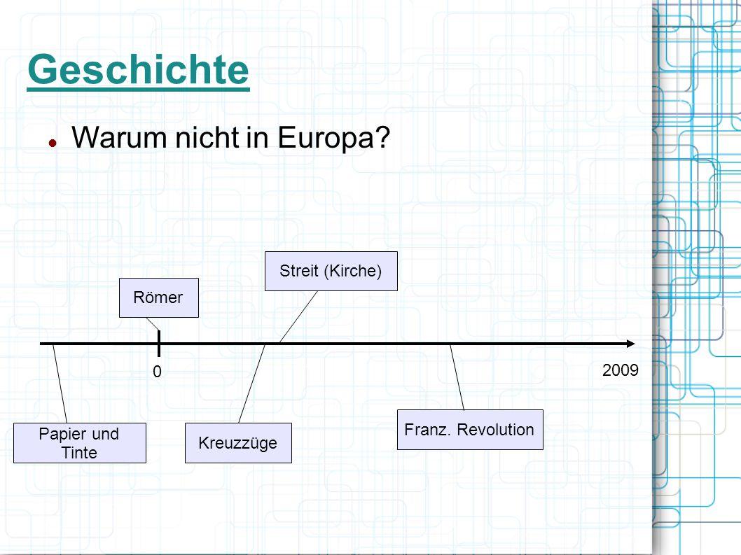 Geschichte Warum nicht in Europa Streit (Kirche) Römer 2009