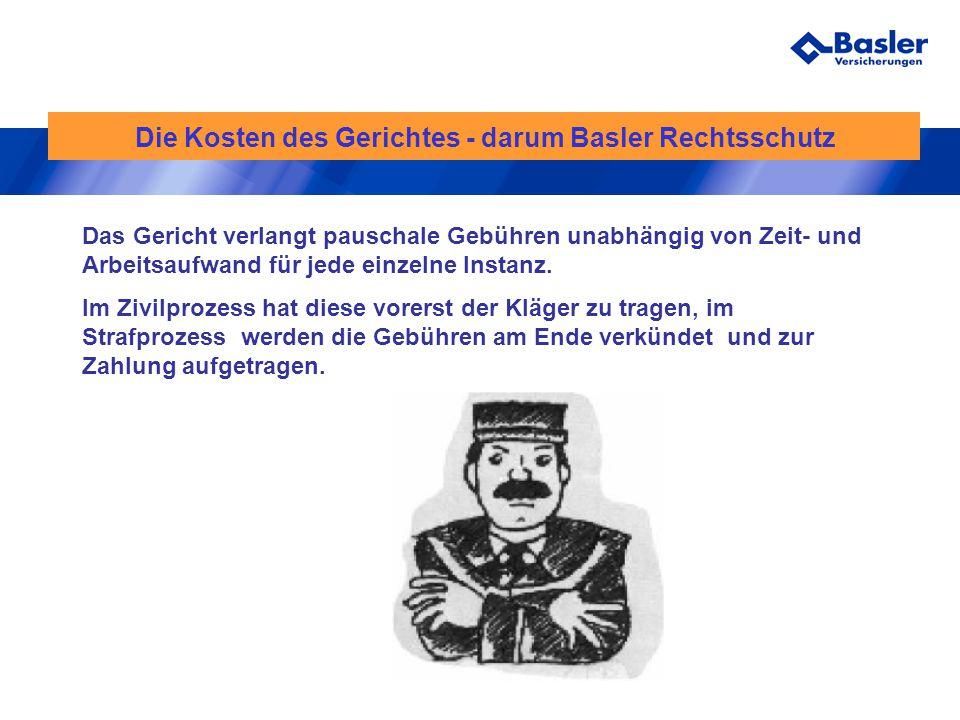 Die Kosten des Gerichtes - darum Basler Rechtsschutz
