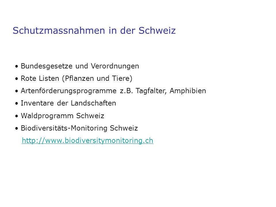 Schutzmassnahmen in der Schweiz