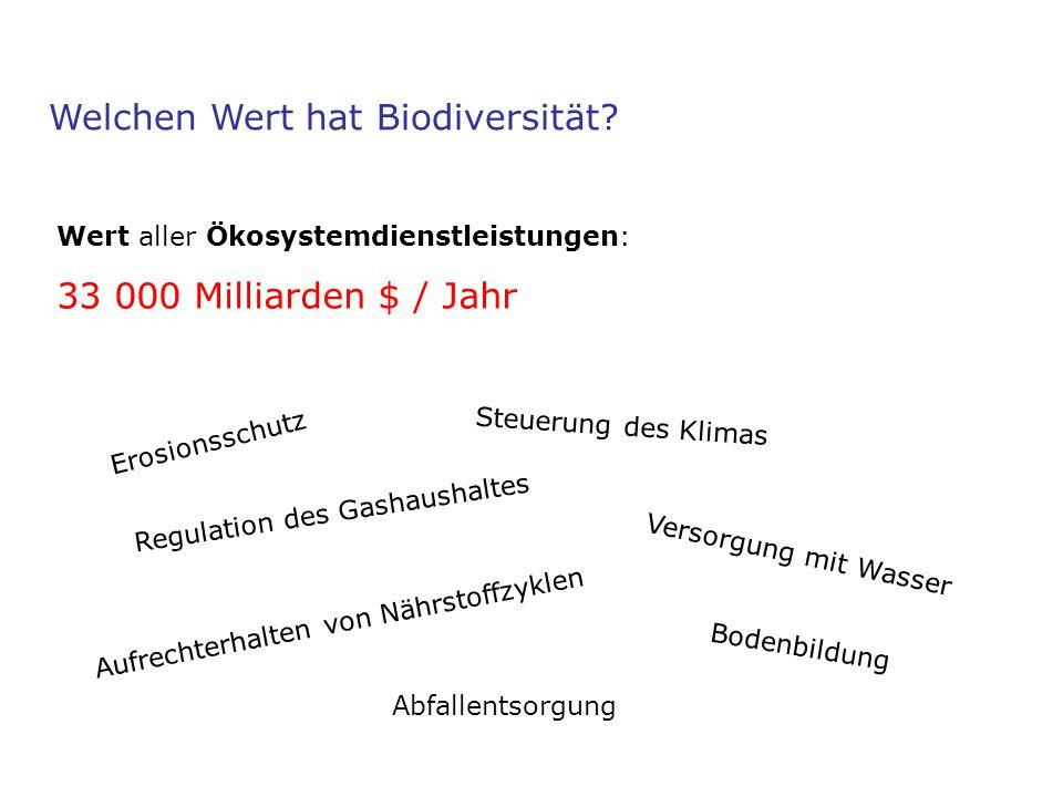 Welchen Wert hat Biodiversität