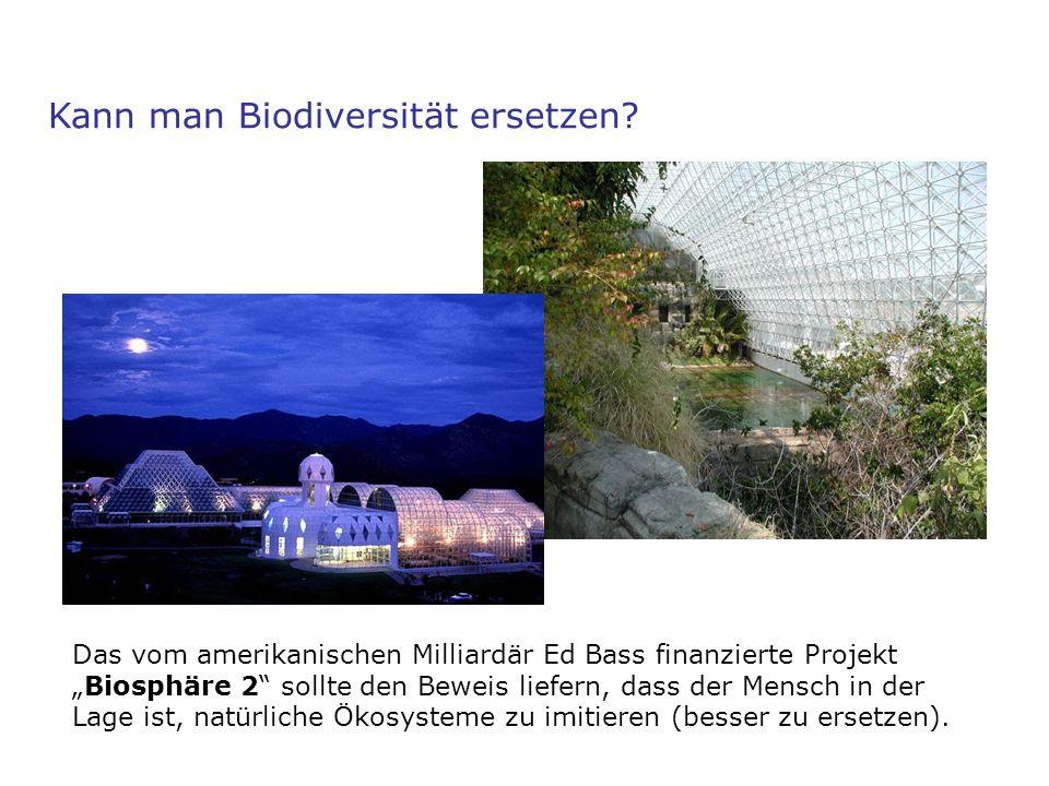 Kann man Biodiversität ersetzen