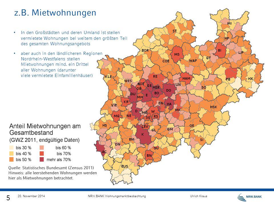 z.B. Mietwohnungen In den Großstädten und deren Umland ist stellen vermietete Wohnungen bei weitem den größten Teil des gesamten Wohnungsangebots.