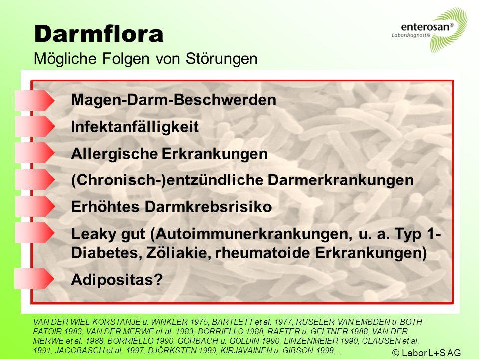 Darmflora Mögliche Folgen von Störungen Magen-Darm-Beschwerden