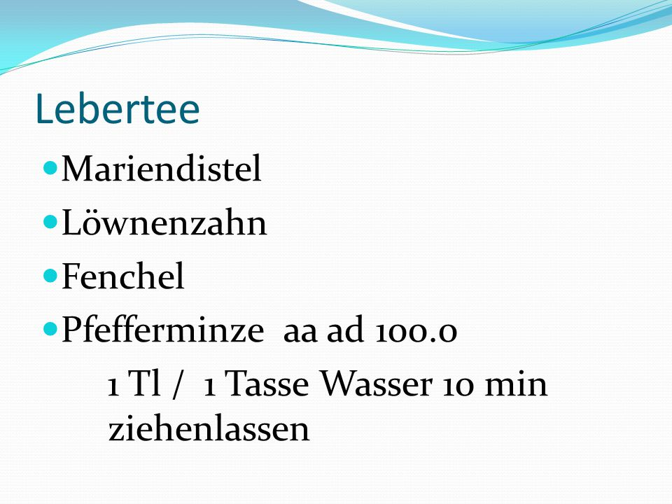Lebertee Mariendistel Löwnenzahn Fenchel Pfefferminze aa ad 100.0