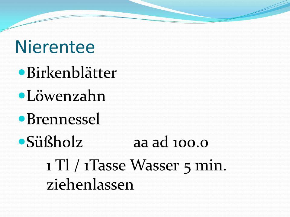 Nierentee Birkenblätter Löwenzahn Brennessel Süßholz aa ad 100.o