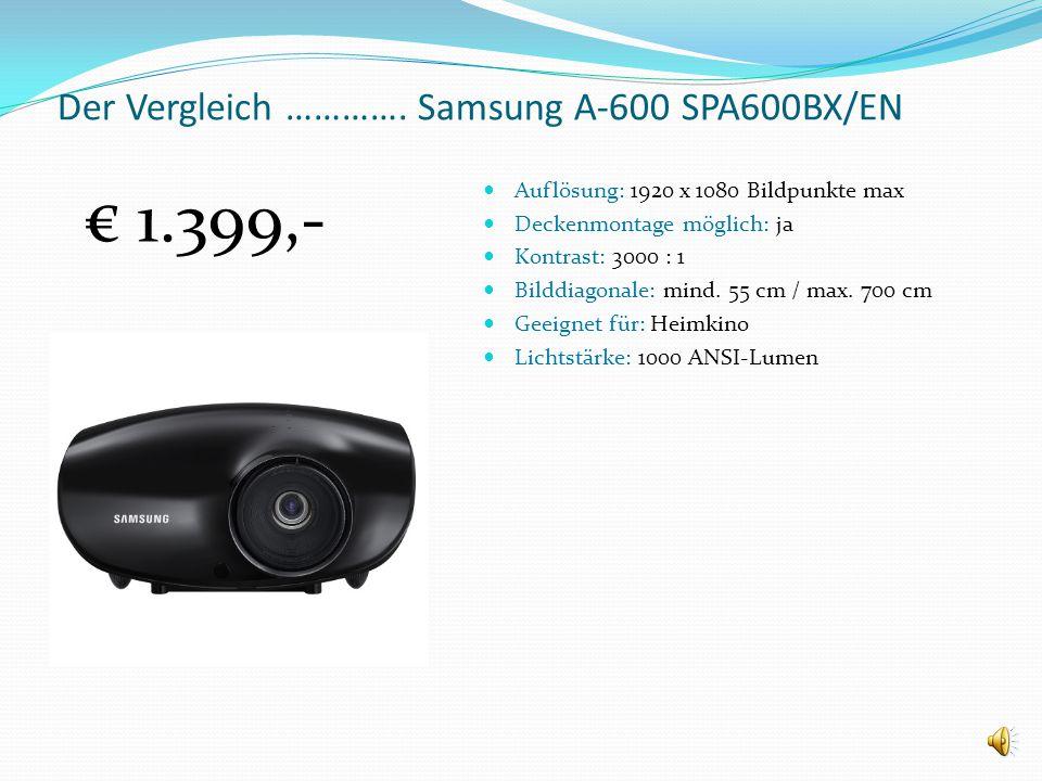 Der Vergleich …………. Samsung A-600 SPA600BX/EN