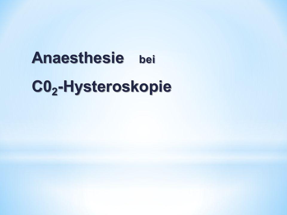Anaesthesie bei C02-Hysteroskopie