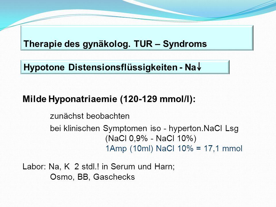 Therapie des gynäkolog. TUR – Syndroms