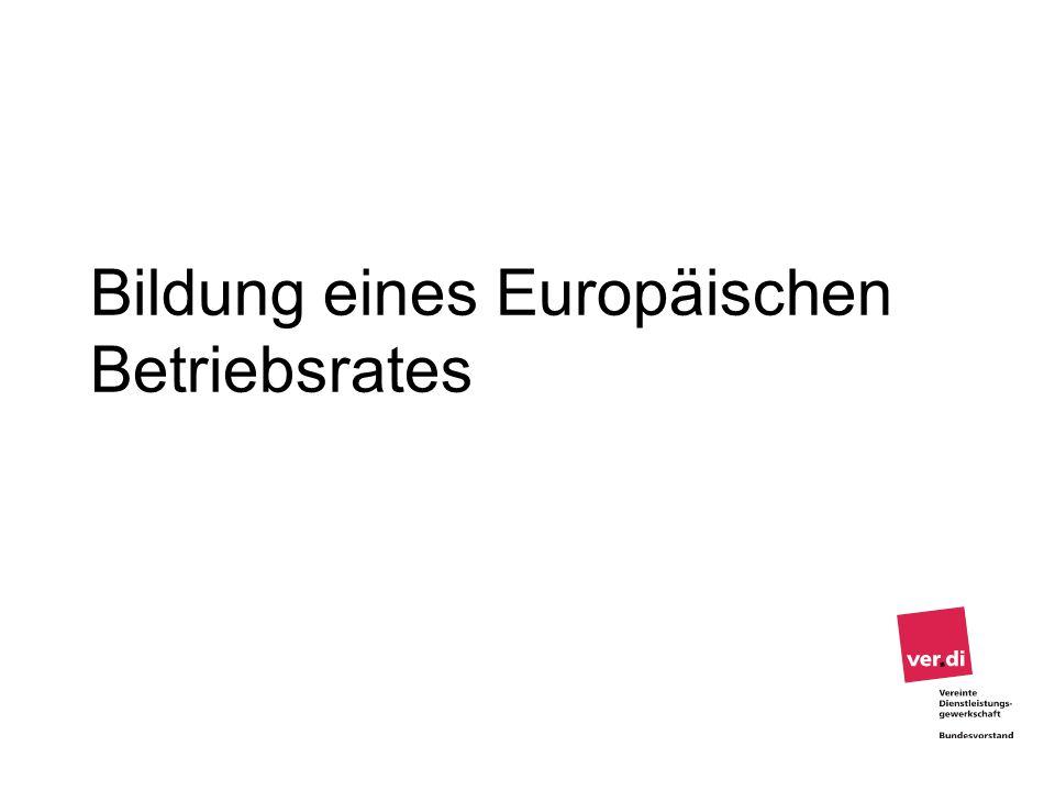 Bildung eines Europäischen Betriebsrates