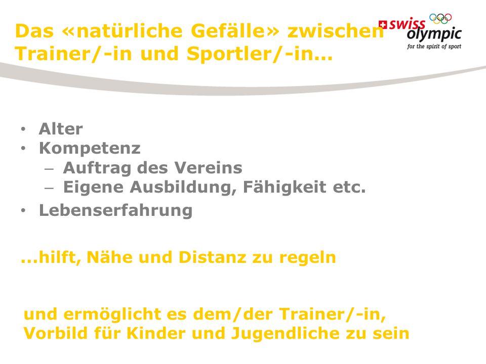 Das «natürliche Gefälle» zwischen Trainer/-in und Sportler/-in...