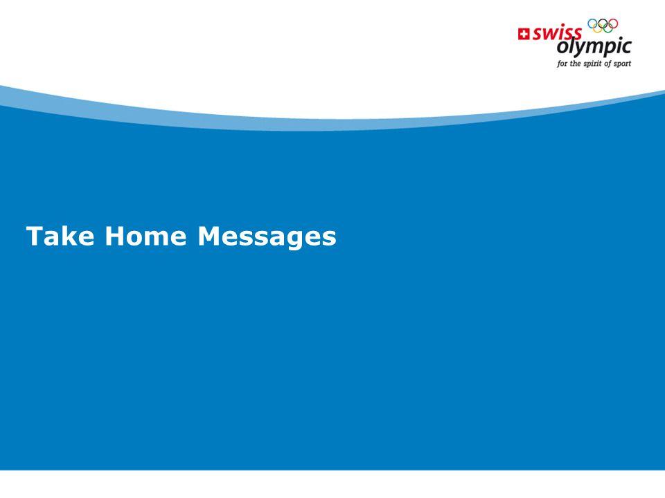 Take Home Messages Die Ethik-Charta im Sport beschreibt in 7 Prinzipien die Werte, welche für den Schweizer Sport gelten sollen.