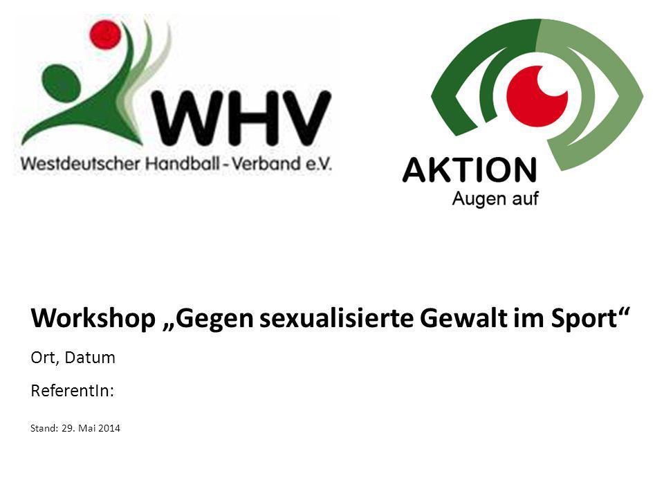 """Workshop """"Gegen sexualisierte Gewalt im Sport"""