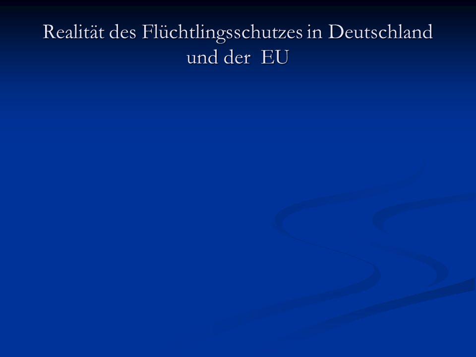 Realität des Flüchtlingsschutzes in Deutschland und der EU