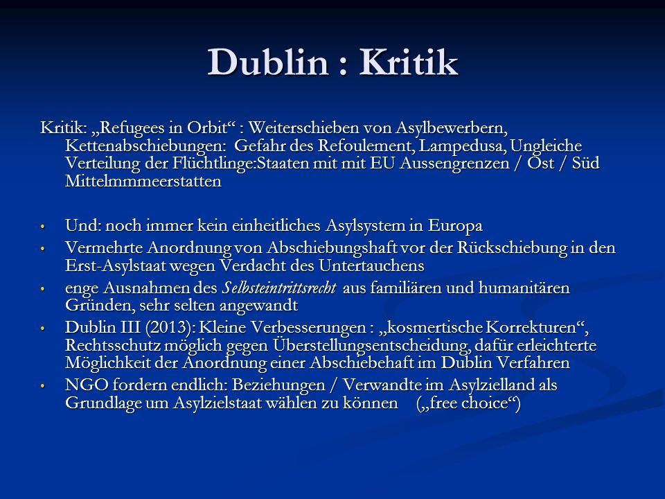 Dublin : Kritik