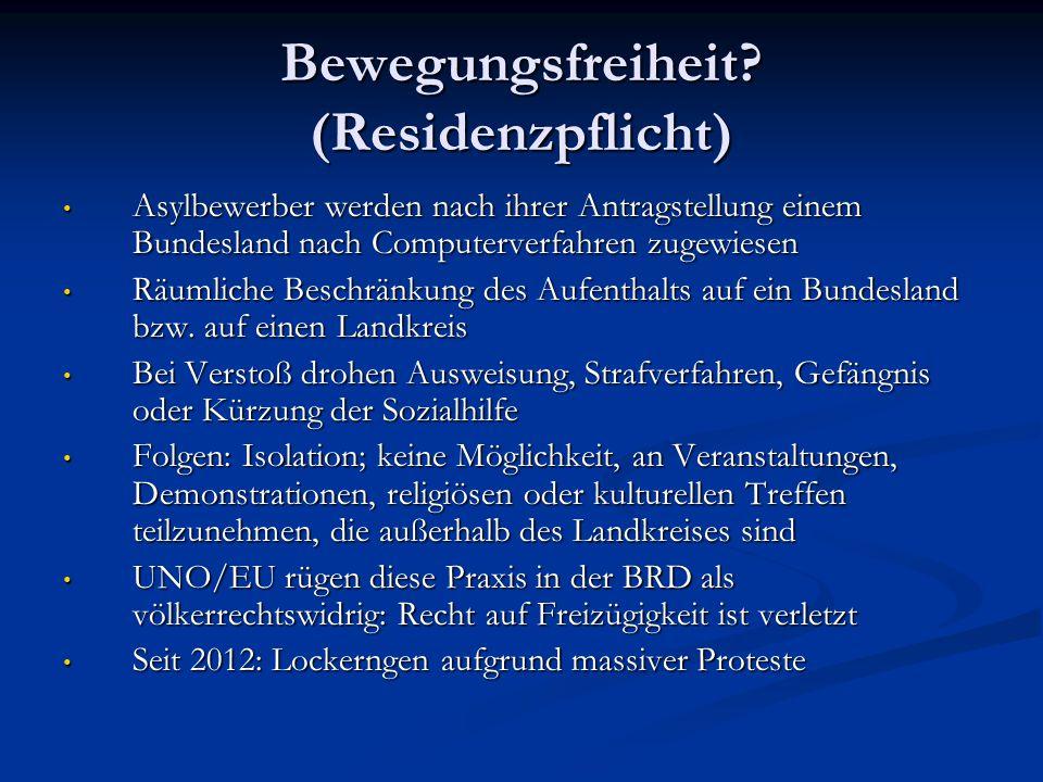 Bewegungsfreiheit (Residenzpflicht)