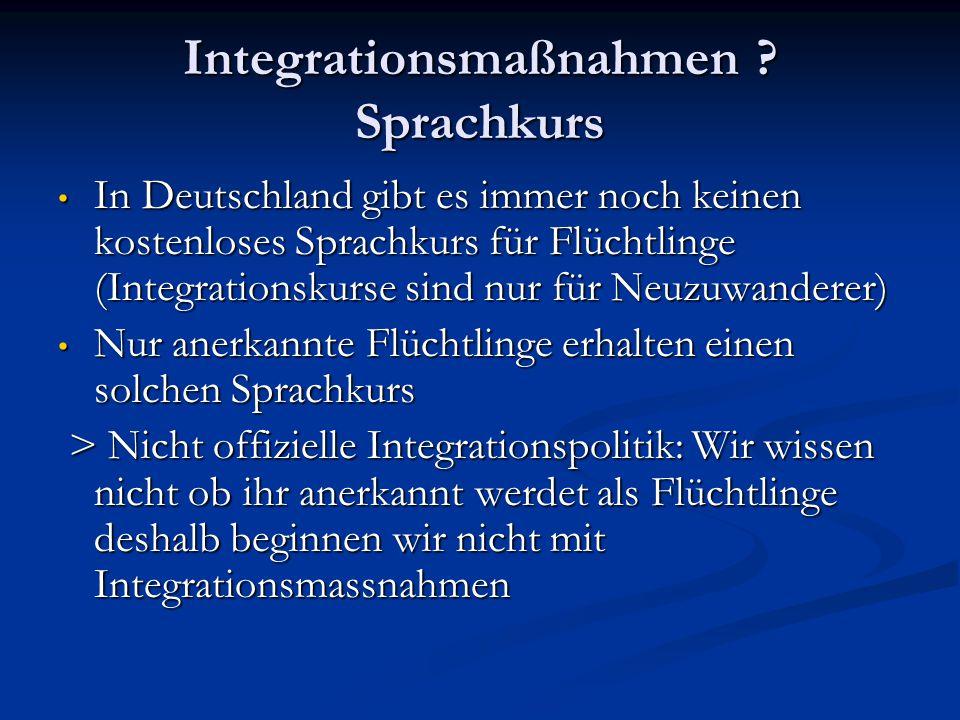 Integrationsmaßnahmen Sprachkurs
