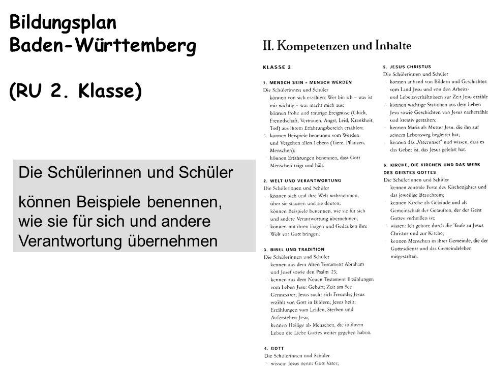 Bildungsplan Baden-Württemberg (RU 2. Klasse)