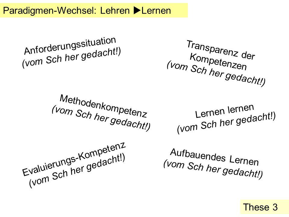 Paradigmen-Wechsel: Lehren Lernen