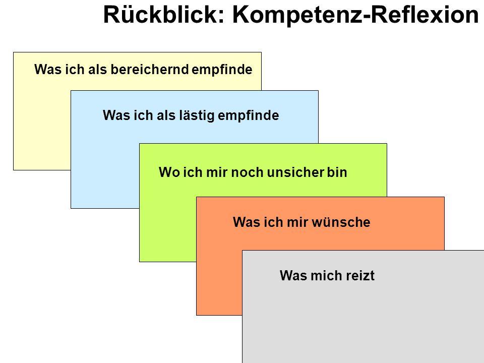 Rückblick: Kompetenz-Reflexion