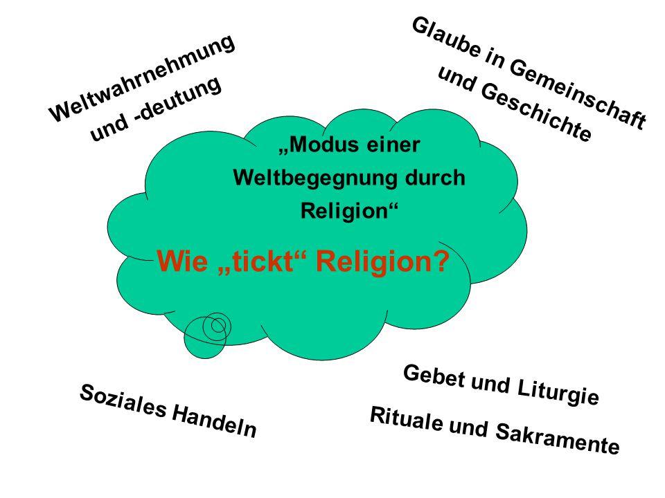 """Wie """"tickt Religion Glaube in Gemeinschaft und Geschichte"""
