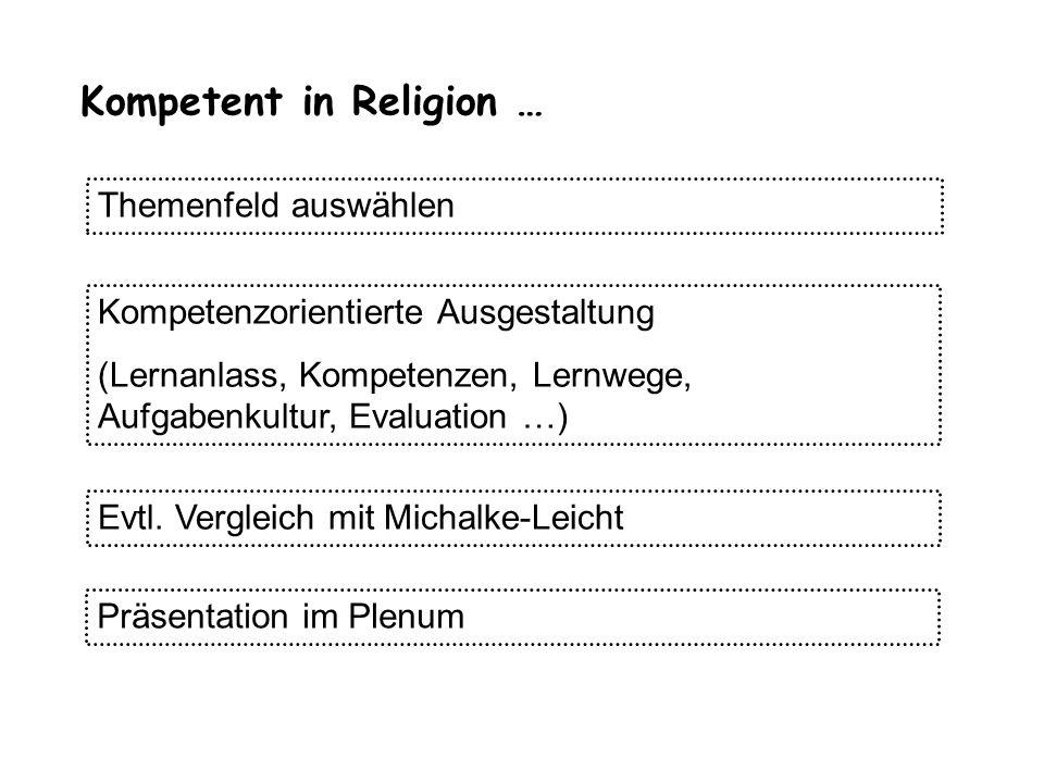 Kompetent in Religion …