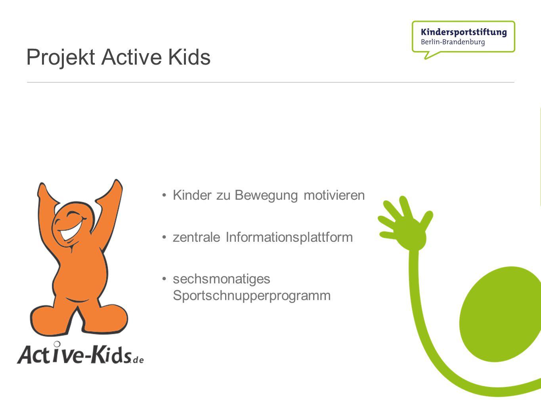 Projekt Active Kids Kinder zu Bewegung motivieren