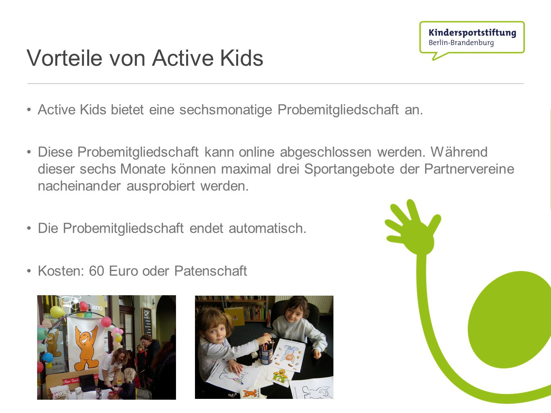Vorteile von Active Kids