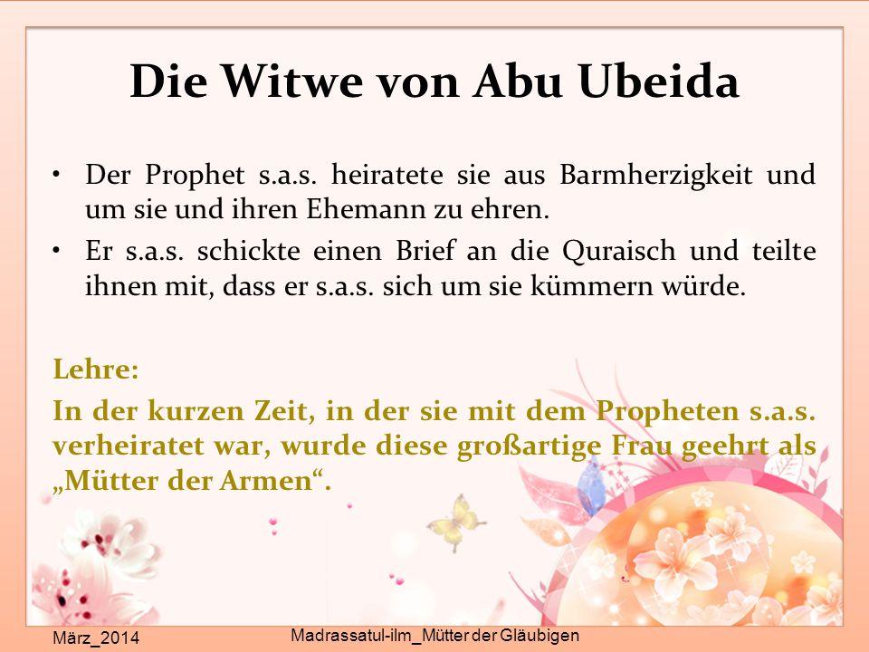 Die Witwe von Abu Ubeida