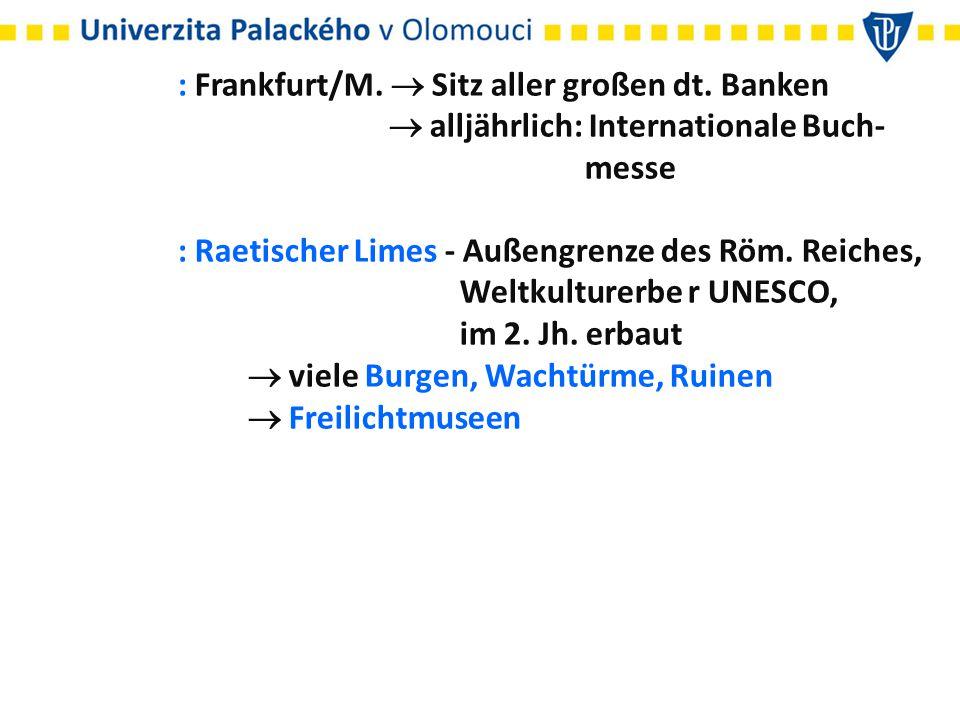 : Frankfurt/M.  Sitz aller großen dt. Banken