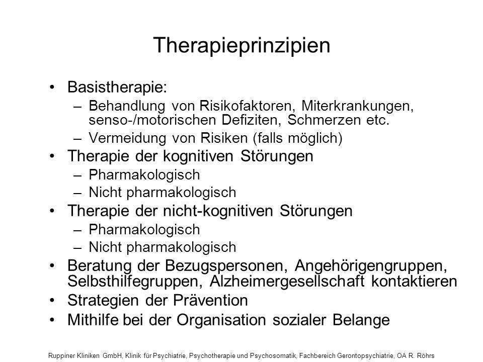 Therapieprinzipien Basistherapie: Therapie der kognitiven Störungen
