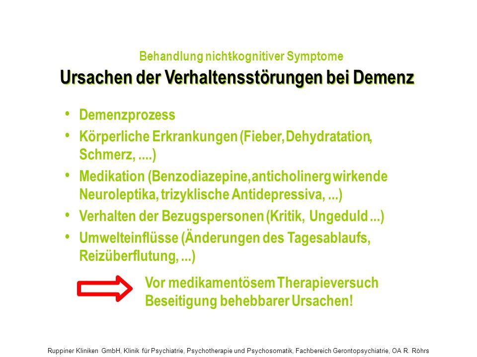 Ursachen der Verhaltensstörungen bei Demenz