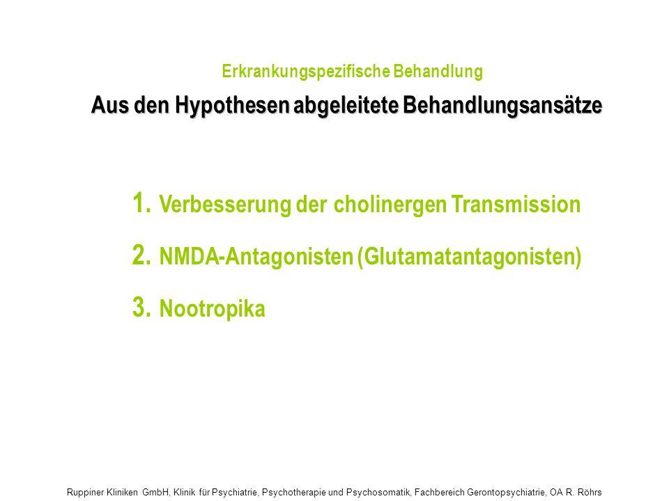 1. 2. 3. Aus den Hypothesen abgeleitete Behandlungsansätze