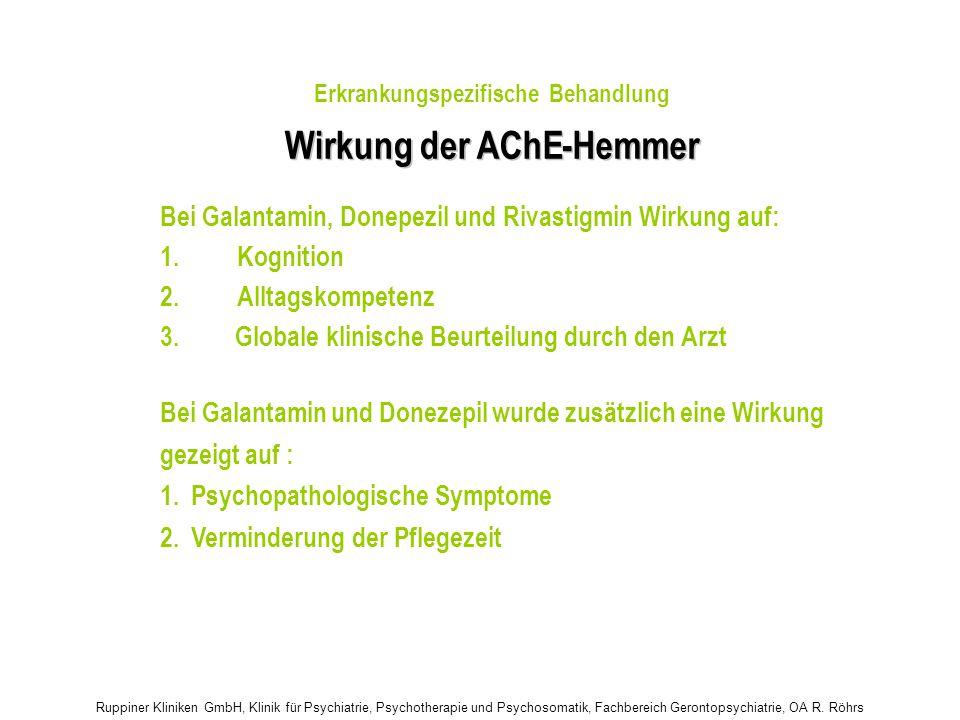 Wirkung der AChE - Hemmer